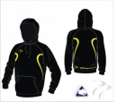 England Hockey Umpire Evo Style Black Yellow Unisex Hooded Sweatshirt