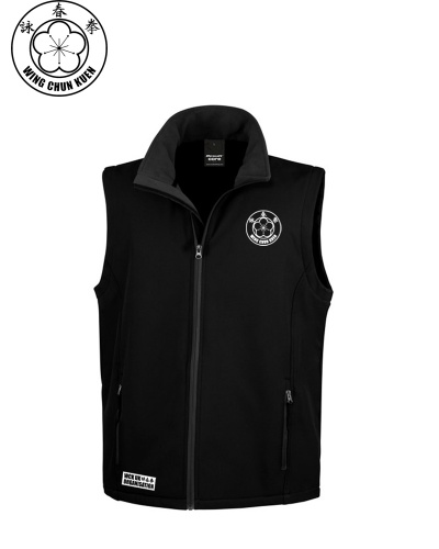 WCKUK Mens Black Soft Shell Gilet