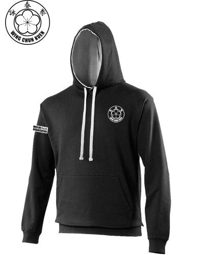 WCKUK Black Grey Hooded Sweatshirt