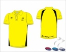 England Hockey Umpire  Men's Yellow Black Polo Shirt