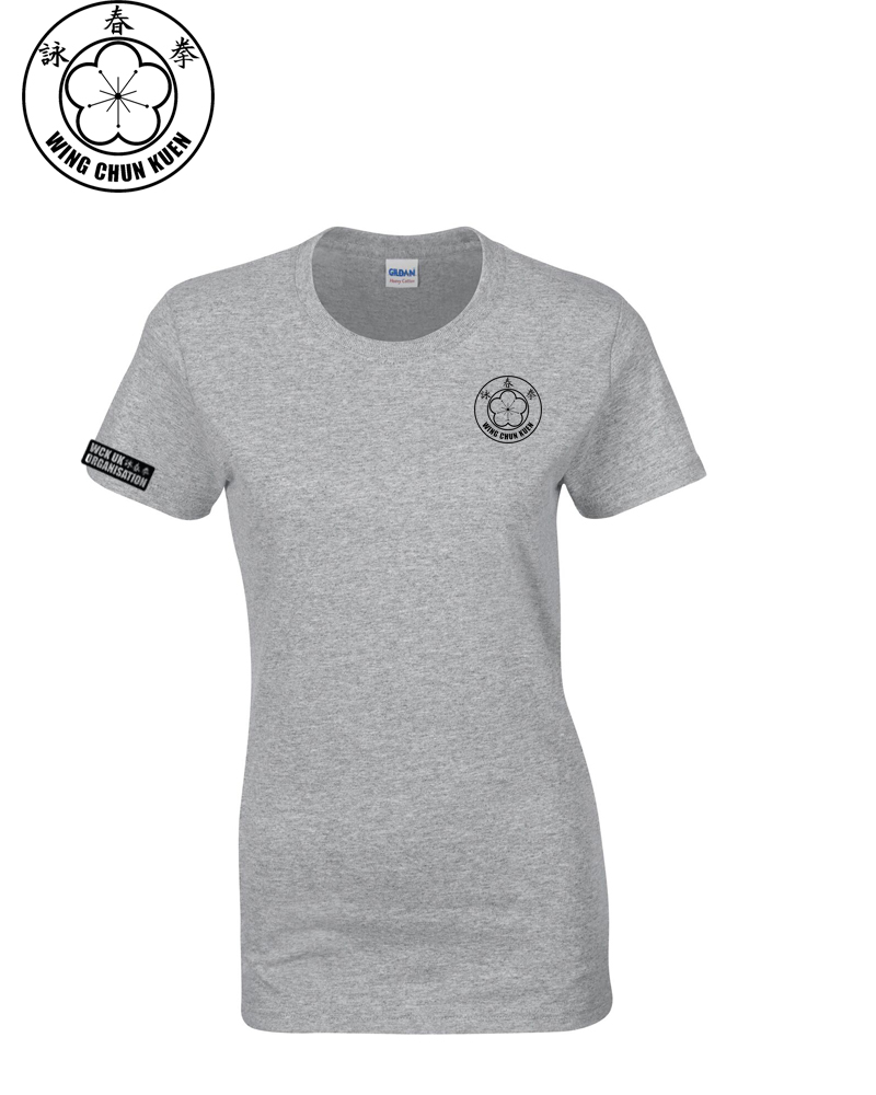 WCKUK Womens Heather Grey Cotton T-Shirt