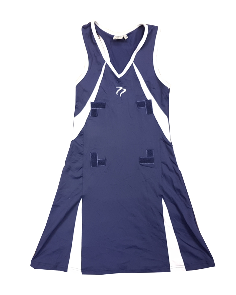 JOB LOT 20 DRESS Tempest Sports Stretch Navy White Netball Dress CLEARANCE