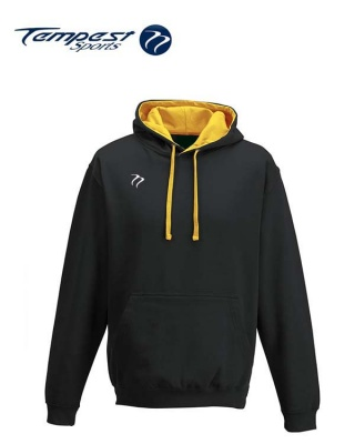 Tempest Lightweight Black Gold Hooded Sweatshirt
