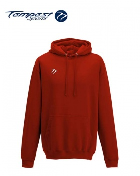 Tempest Lightweight Fire Red Hooded Sweatshirt
