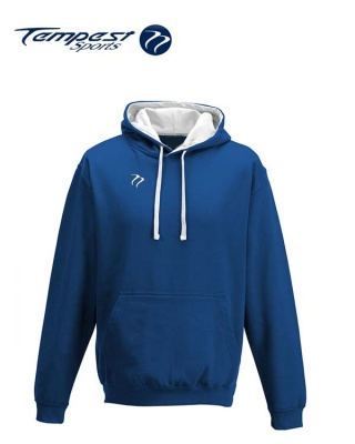 Tempest Lightweight Royal White Hooded Sweatshirt