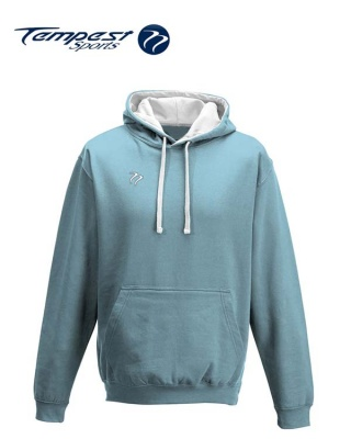 Tempest Lightweight Sky Blue White Hooded Sweatshirt