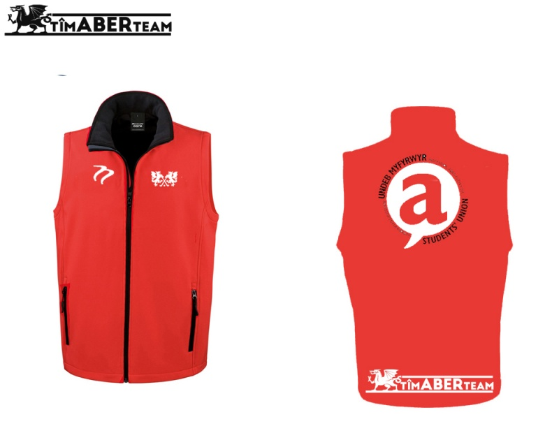 AUMHC Red Black Soft Shell Gilet