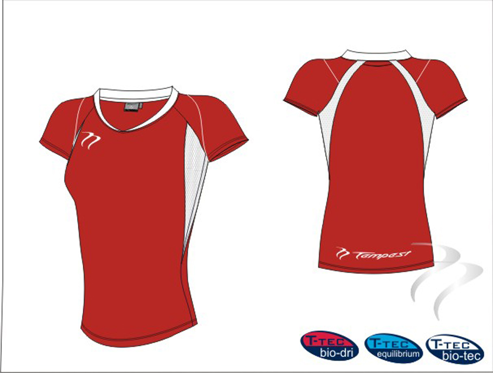 Lots of 20 Club  Style Women's Red/White Playing Shirt Dry Fit
