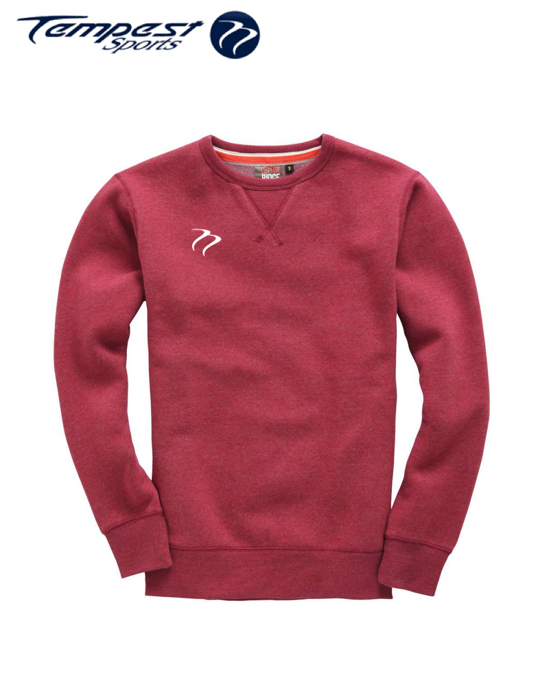Tempest Heavyweight Sweater - Wine Melange
