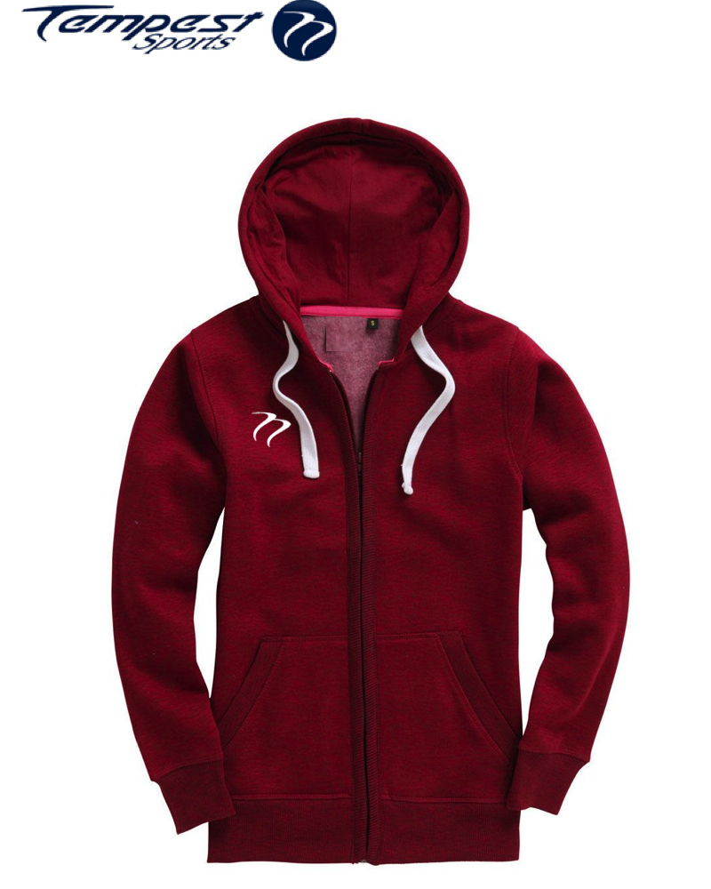 Tempest Ladies zip hoodie - Paprika Red