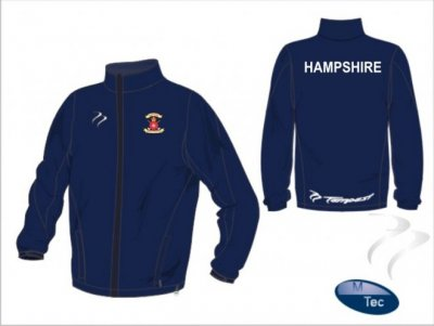 Hampshire Coaches Tempest Classic Navy Tracksuit Top & Bottom Set
