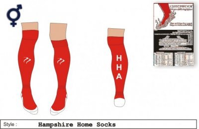Hampshire Xpression Style Red White Socks
