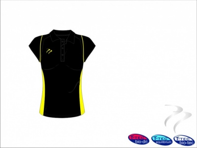 Umpire Style Women's Black Yellow Polo Shirt
