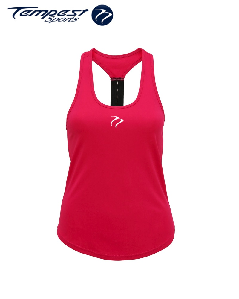 Tempest Women's performance strap back vest - Hot Pink