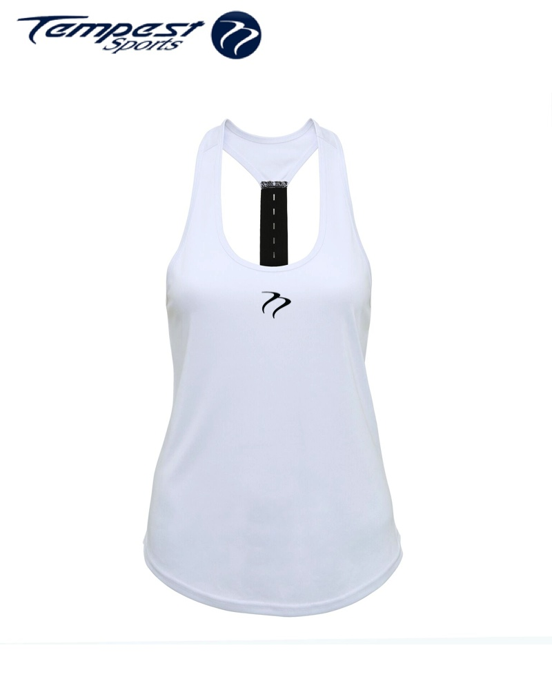 Tempest Women's performance strap back vest - White