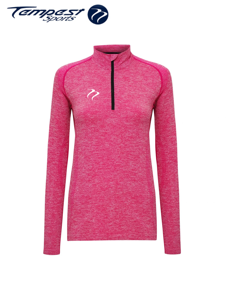Tempest Women's seamless '3D fit' multi-sport performance zip top - Pink