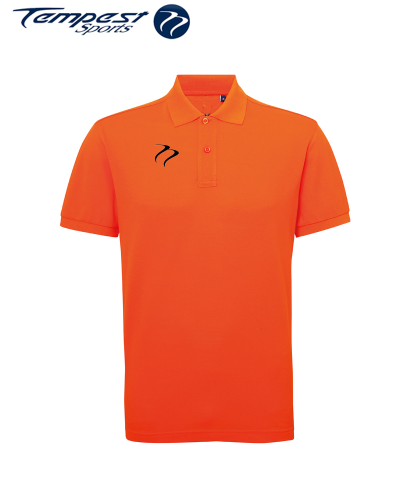 Poly/Cotton Mens Hockey Umpires Orange Shirt
