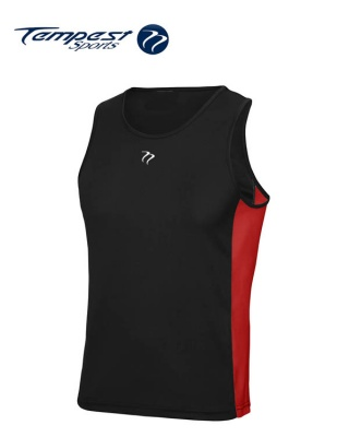 Tempest Black Red Men's Training Vest