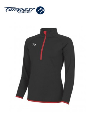 Tempest Black Red Half Zip Womens Midlayer