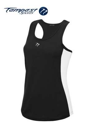 Tempest Women's Black White Training Vest