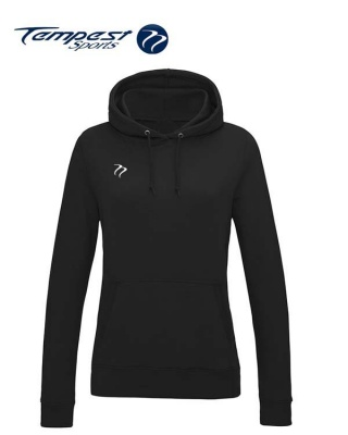 Tempest Lightweight Ladies Black Hooded Sweatshirt