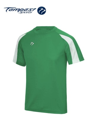 Tempest Lightweight Green White Mens Training Shirt