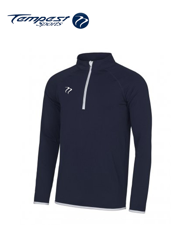 Tempest Navy White Half Zip Midlayer