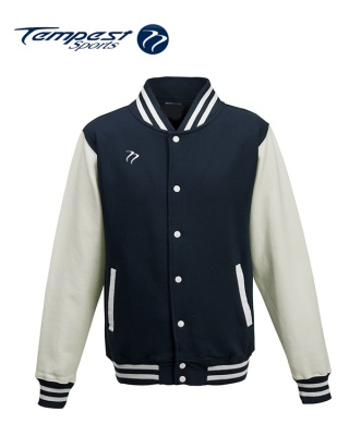 Tempest Varsity Navy White Jacket
