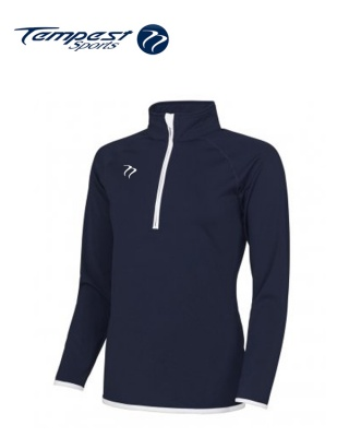 Tempest Navy White Half Zip Womens Midlayer