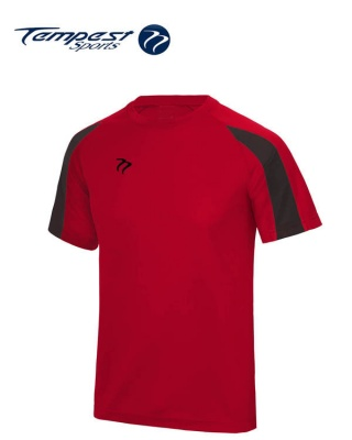 Tempest Lightweight Red Black Mens Training Shirt
