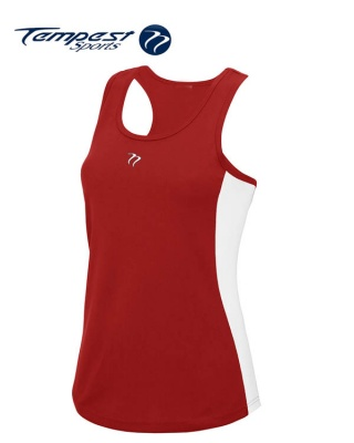 Tempest Women's Red White Training Vest