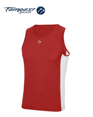 Tempest Red White Men's Training Vest
