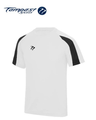 Tempest Lightweight White Black Mens Training Shirt