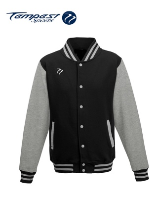 Tempest Varsity Black Grey Jacket