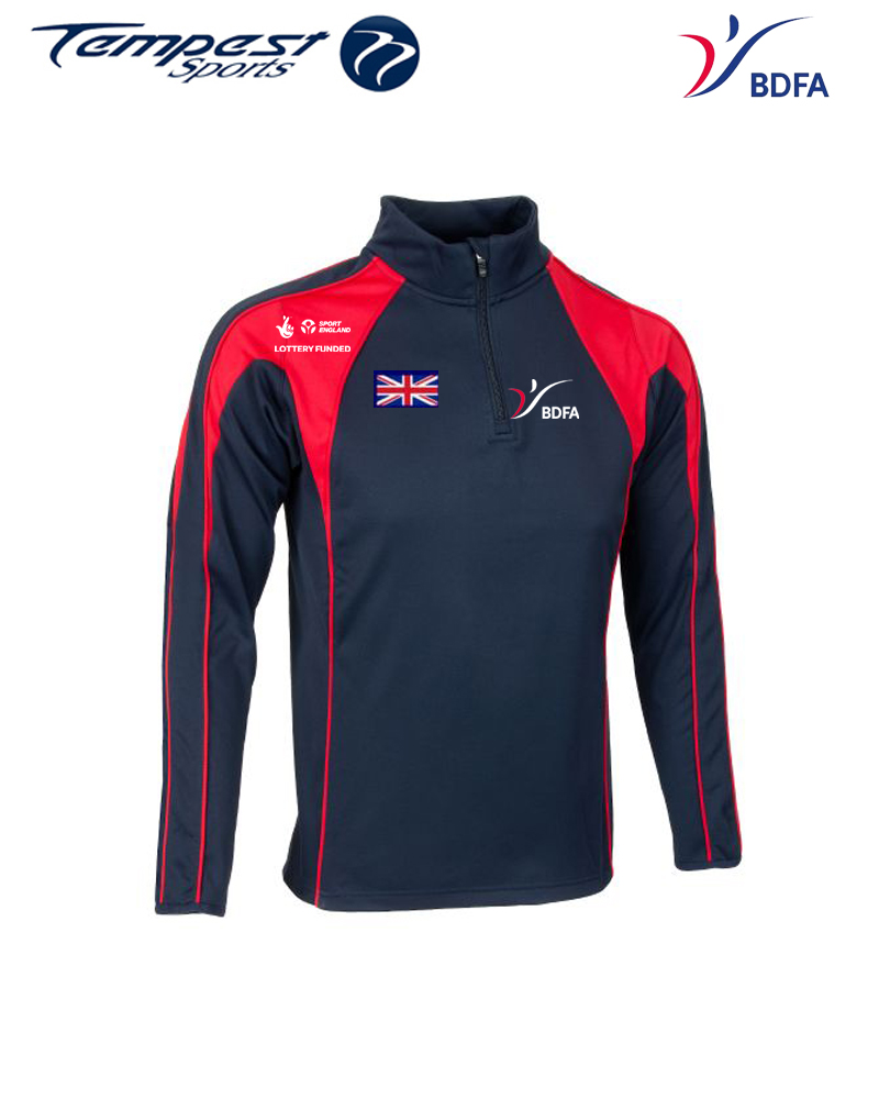 BDFA Competition Navy Red Midlayer