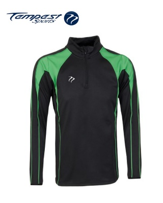 Black Green Half Zip Midlayer
