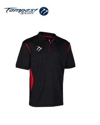 Tempest CK Black Red Training Polo Shirt