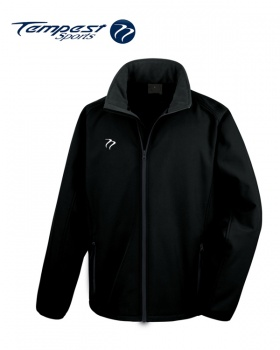 Tempest Black Grey Soft Shell Jacket
