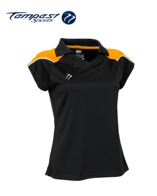 Tempest CK Womens Black Yellow Playing Shirt