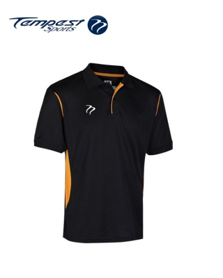 Tempest CK Black Yellow Training Polo Shirt