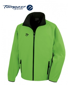 Tempest Lime Green Black Soft Shell Jacket