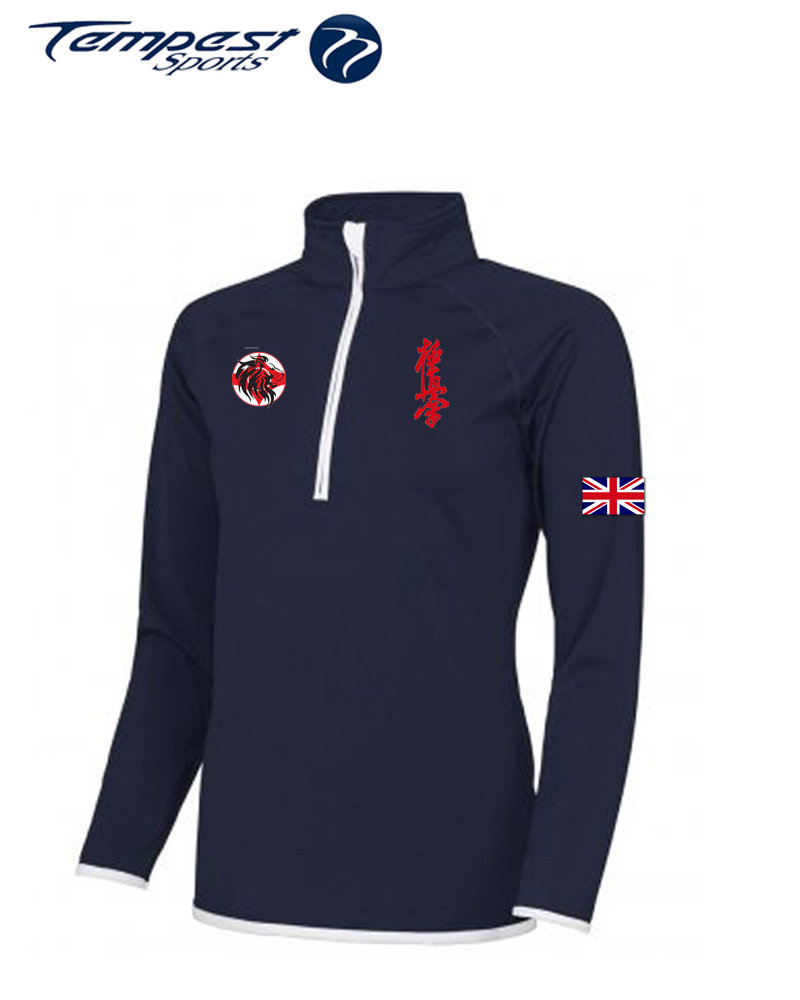 Karate GB Navy/White Half Zip Mens Midlayer
