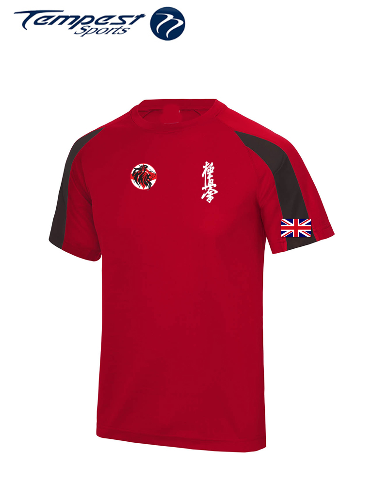 Karate GB Red Black Training Shirt