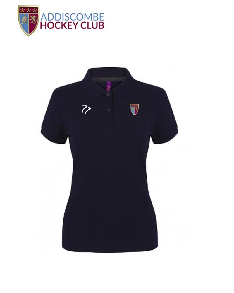 Addiscombe Womens Navy Polo Shirt