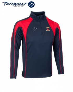 Hampshire Navy Red Half Zip Top