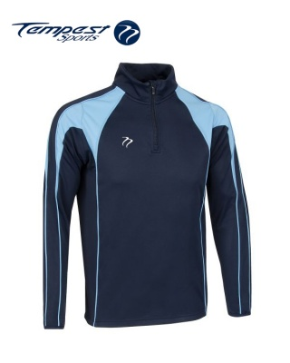 Navy Sky Half Zip Midlayer
