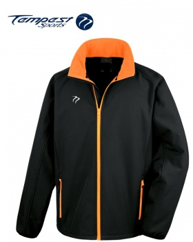 Tempest Black Orange Soft Shell Jacket