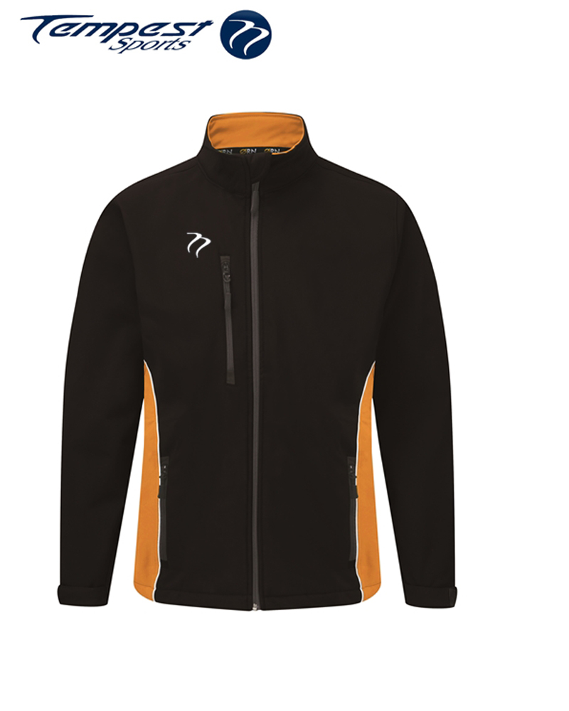 Umpires Black Orange Heavy Soft Shell Jacket