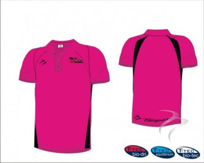 West Panel Hockey Umpires Style Men's Pink Black Polo Shirt