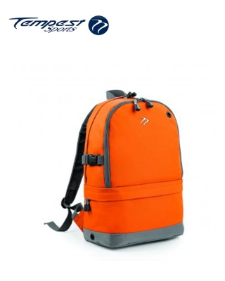 Tempest Sports Orange/Grey Backpack